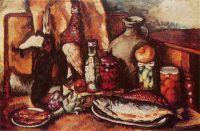 1915-16 Дичь, рыба, маринады (Натюрморт с фазаном). Х., м. 87х130 ЧС, М.