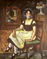 1918 Женский портрет с зеркалом. Х., м. 181x139 Екатеринбург