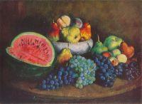 1920 Арбуз и виноград. Х., м. 55х76 ГРМ
