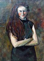 1920 Портрет писательницы Emma Ribarik.
