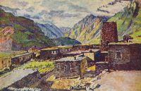 1920-е Грузия. Казбек. Вид на Дарьяльское ущелье.