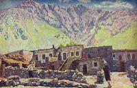1920-е Грузия. Казбек. Шат-гора и аул.
