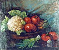1920-е Натюрморт с овощами. Холст, масло. 52х61