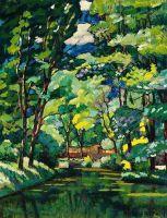 1921 Пейзаж с прудом. Х., м. 99.7х79.5 Минск