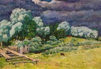 1922 После грозы.. Холст, масло. 54х78. Тверь