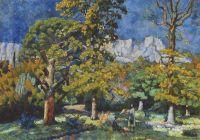 1923 Крым. Парк в Алупке. Х., м. 56х77 Волгоград