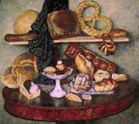 1924 Снедь московская. Хлебы. Х., м. 128.7x145 ГТГ