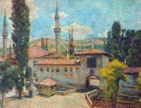 1925 Бахчисарай. Ханский дворец. К., паст. 54х70 Волгоград