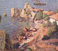 1925 Гурзуф. Вид на Чеховский домик и пляж. (Машков q)