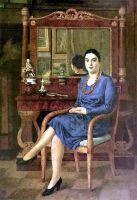 1927 Портрет З. Д. Р. (Дама в синем). ГРМ