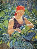 1930 Девушка на табачной плантации. Х., м. 108х80 Волгоград
