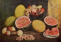 1937 Натюрморт с разрезанным арбузом. ЧС, М.