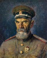 1943 Портрет генерал-майора медицинской службы А.Р.Злобина. Х., м. 61х52 Волгоград