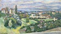 Вид города Лозанна. Х., м. 54х74
