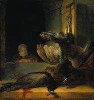 Натюрморт с павлинами