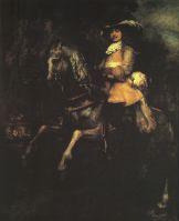 Фредерик Ригель на коне