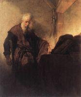 Святой Павел за письменным столом
