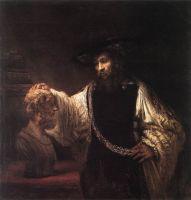 Аристотель с бюстом Гомера