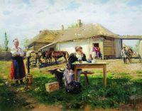 Приезд учительницы в деревню. 1896-1897