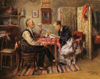 Утренний чай. 1891