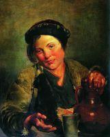 Мальчик, продающий квас. 1861