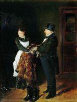 В передней. 1884
