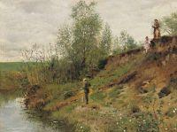 Ловля рыбы. 1884