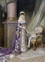 Портрет императрицы Марии Фёдоровны, жены Александра III. 1912