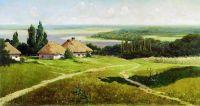 Украинский пейзаж с хатами. 1901