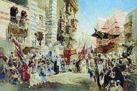 Эскиз к картине Перенесение священного ковра из Мекки в Каир