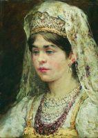 Портрет девушки в русском костюме (Боярышня)