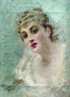 Женская головка (Портрет Е. Ковалевой). 1892