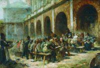 Трапеза богомольцев в Троице-Сергиевой лавре