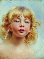 Портрет девочки (Детская головка). 1880-е