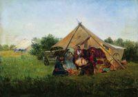 Цыганский табор у костра
