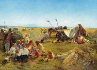 Крестьянский обед во время жатвы. 1871