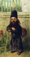 Монах - сборщик податей на храм. 1900-е