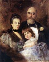 Групповой портрет М.С.Волкова, С.Н.Волковой и С.М.Волкова-Манзея. Конец 1890-х