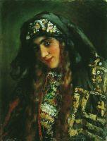 Девушка в восточном костюме. 1870-е