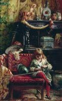 Портрет сына в мастерской (Маленький антиквар). 1882