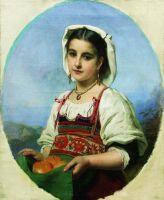 Молодая итальянка с померанцами. Начало 1870-х