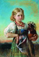 Девочка с кувшином. 1880-е