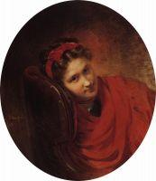 Портрет О.С.Маковской, жены В.Е.Маковского, брата художника. 1864