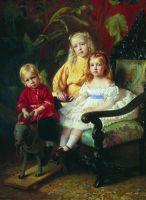 Портрет детей Стасовых. Начало 1870-х