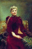 Портрет Худековой. 1890
