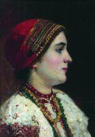 Портрет девушки в украинском костюме. Вторая половина XIX века