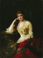 Женский портрет. Начало 1880-х