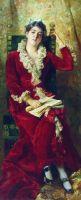 Портрет Ю.П.Маковской. 1881
