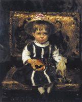 Портрет В.И.Репиной, дочери художника в детстве. 1874