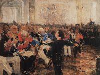 А.С.Пушкин на акте в Лицее 8 января 1815 года. 1910